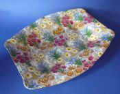 Vintage Royal Winton 'Marguerite' Chintz Art Deco Shape Dish c1945 #2